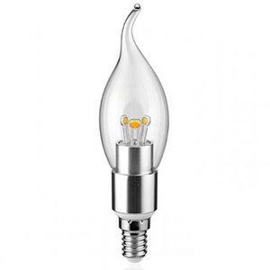 E14 led kaarslamp flame 230 volt 3 watt dimbaar for Lampen 34 volt 3 watt